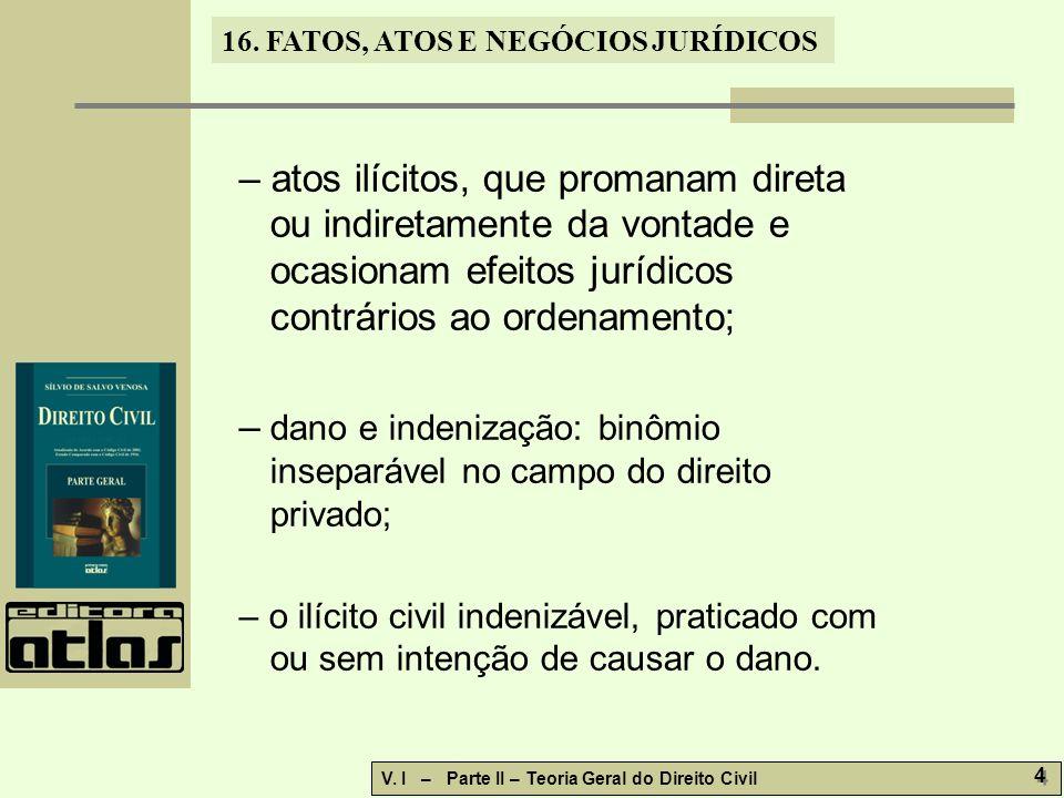 – dano e indenização: binômio inseparável no campo do direito privado;