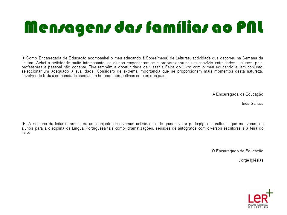 Mensagens das famílias ao PNL