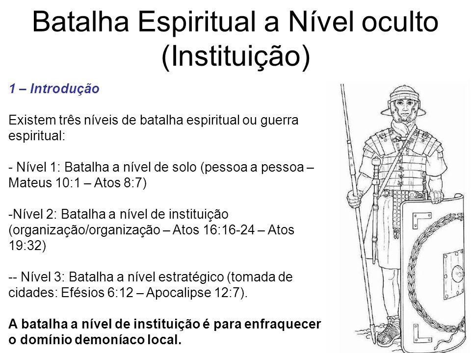 Batalha Espiritual a Nível oculto (Instituição)