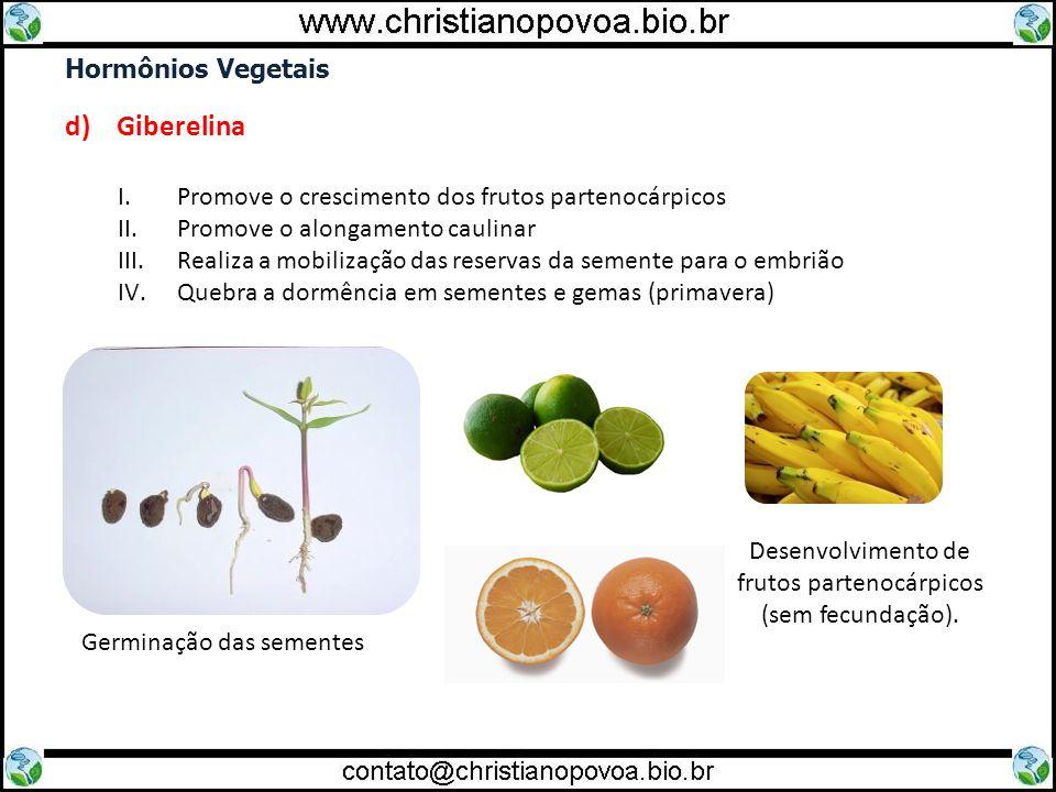 d) Giberelina Hormônios Vegetais