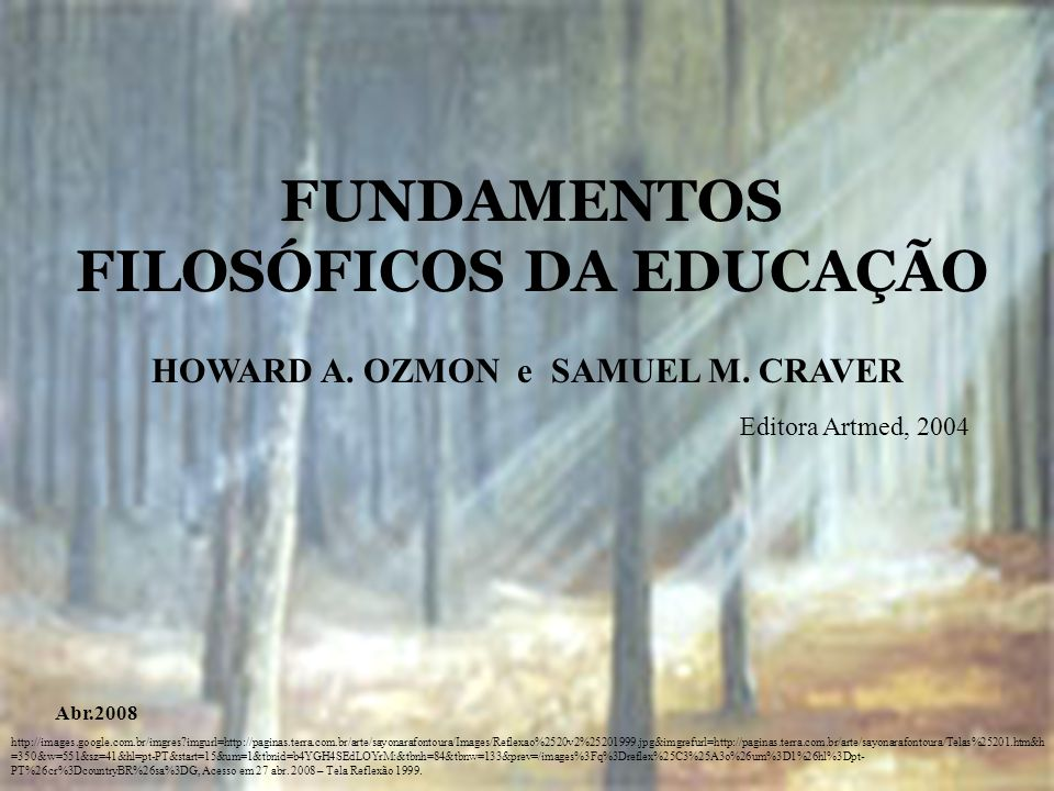FUNDAMENTOS FILOSÓFICOS DA EDUCAÇÃO