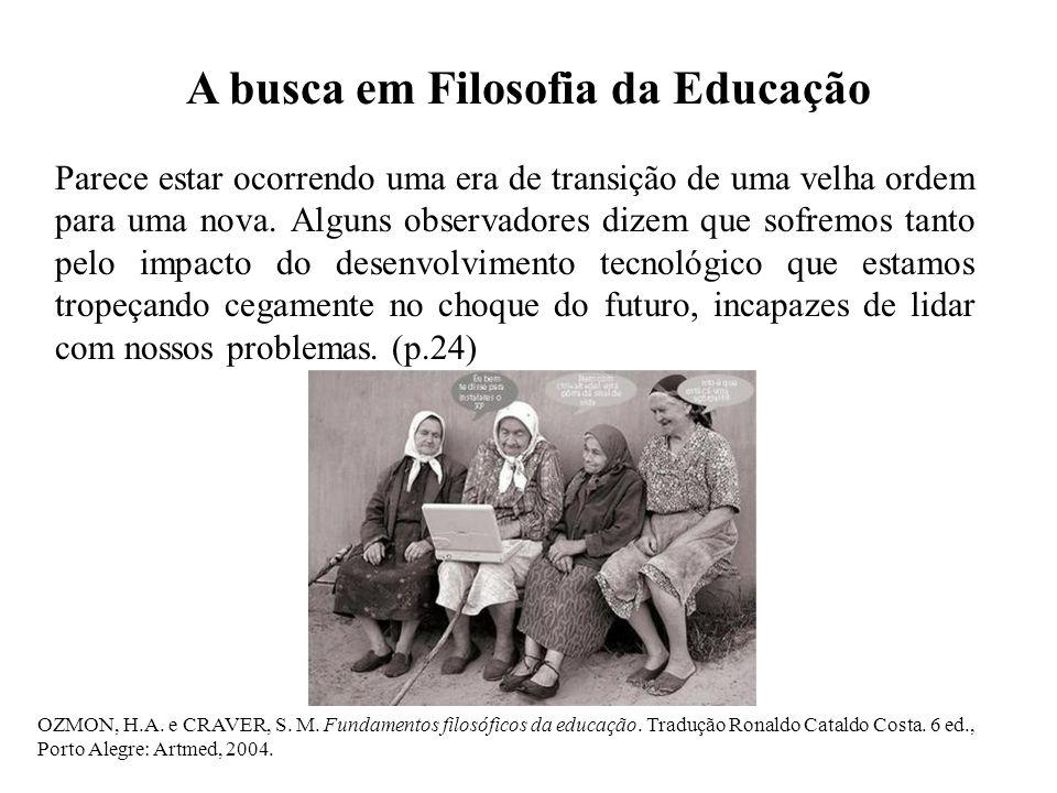 A busca em Filosofia da Educação