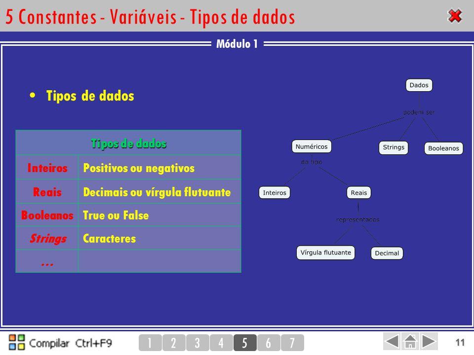5 Constantes - Variáveis - Tipos de dados