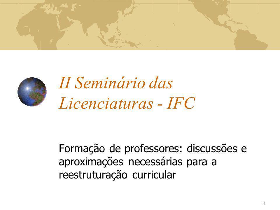 II Seminário das Licenciaturas - IFC