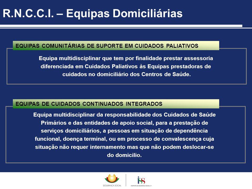 R.N.C.C.I. – Equipas Domiciliárias