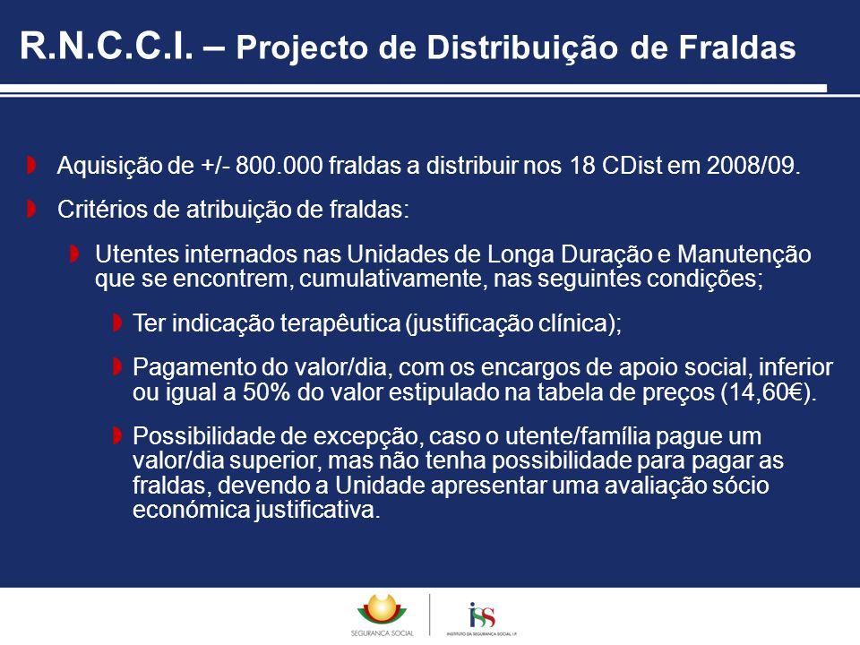 R.N.C.C.I. – Projecto de Distribuição de Fraldas