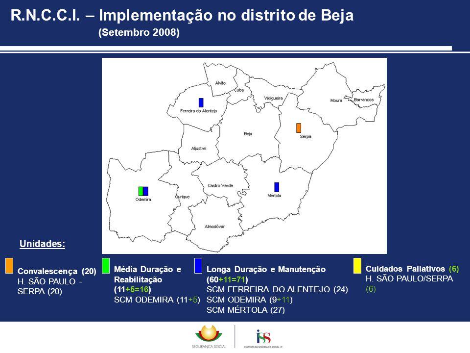 R.N.C.C.I. – Implementação no distrito de Beja (Setembro 2008)