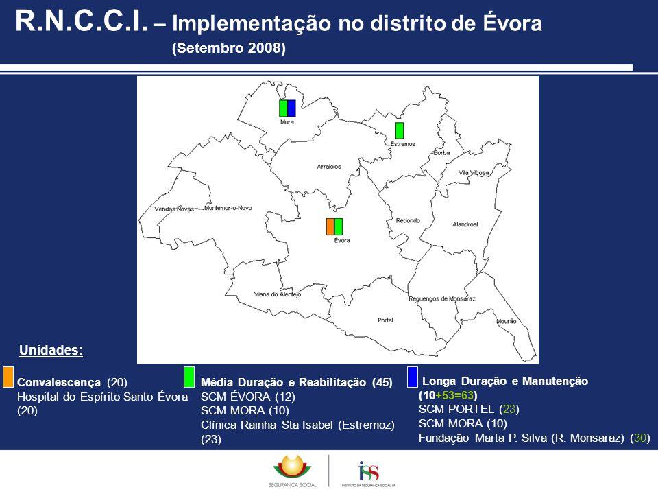 R.N.C.C.I. – Implementação no distrito de Évora (Setembro 2008)