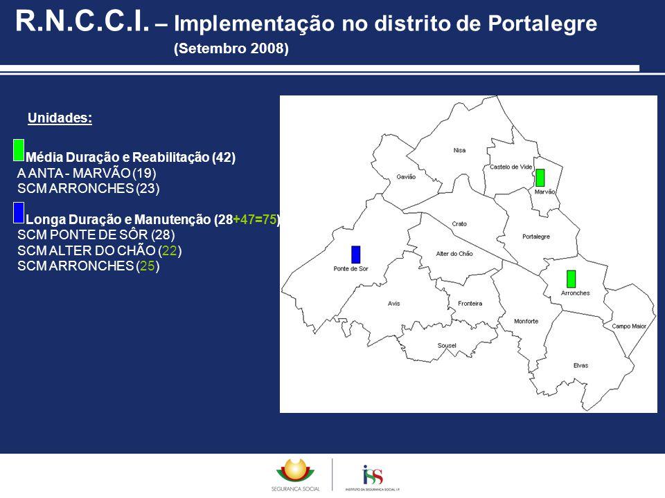 R.N.C.C.I. – Implementação no distrito de Portalegre (Setembro 2008)