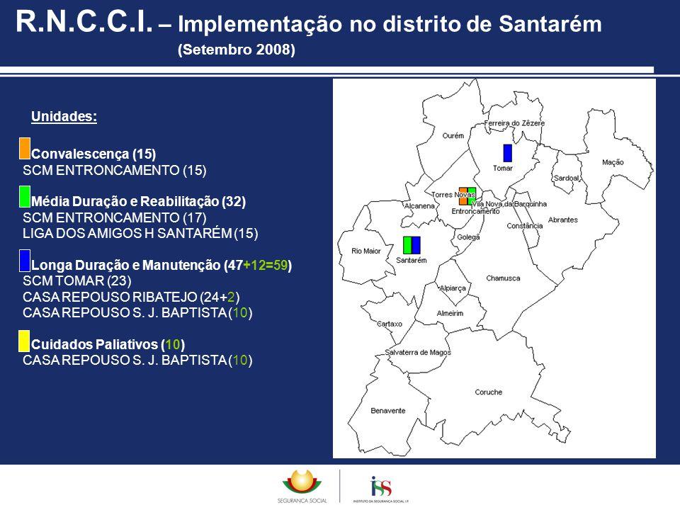 R.N.C.C.I. – Implementação no distrito de Santarém (Setembro 2008)