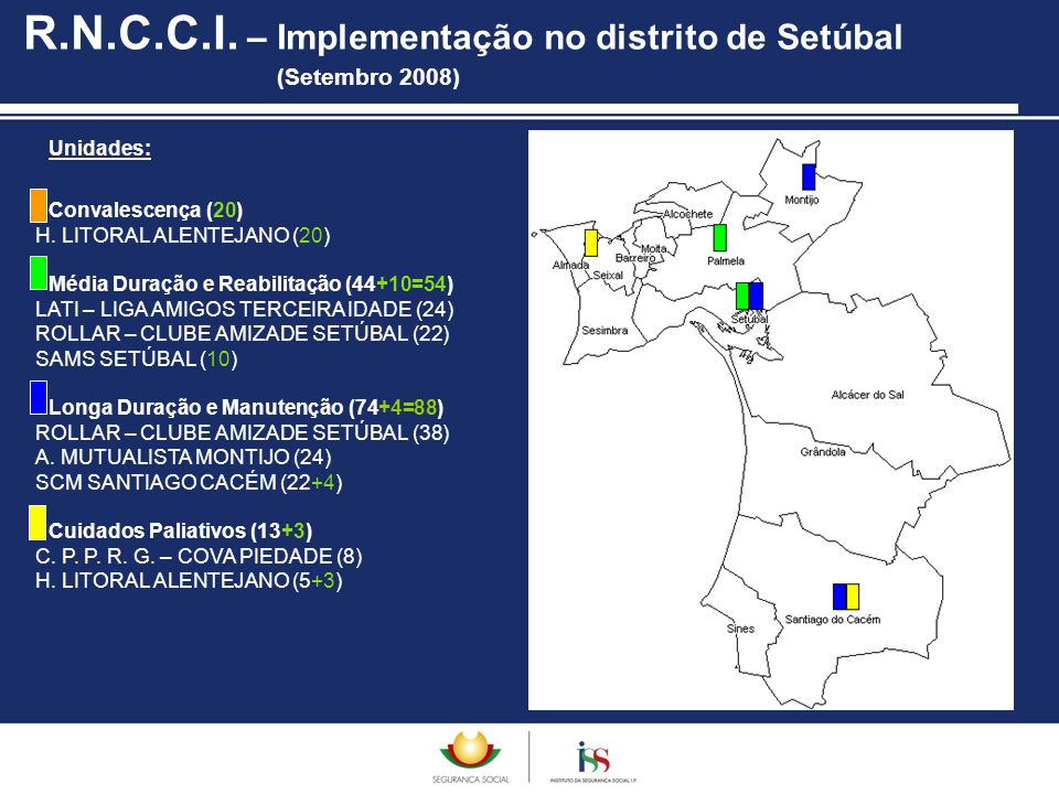 R.N.C.C.I. – Implementação no distrito de Setúbal (Setembro 2008)