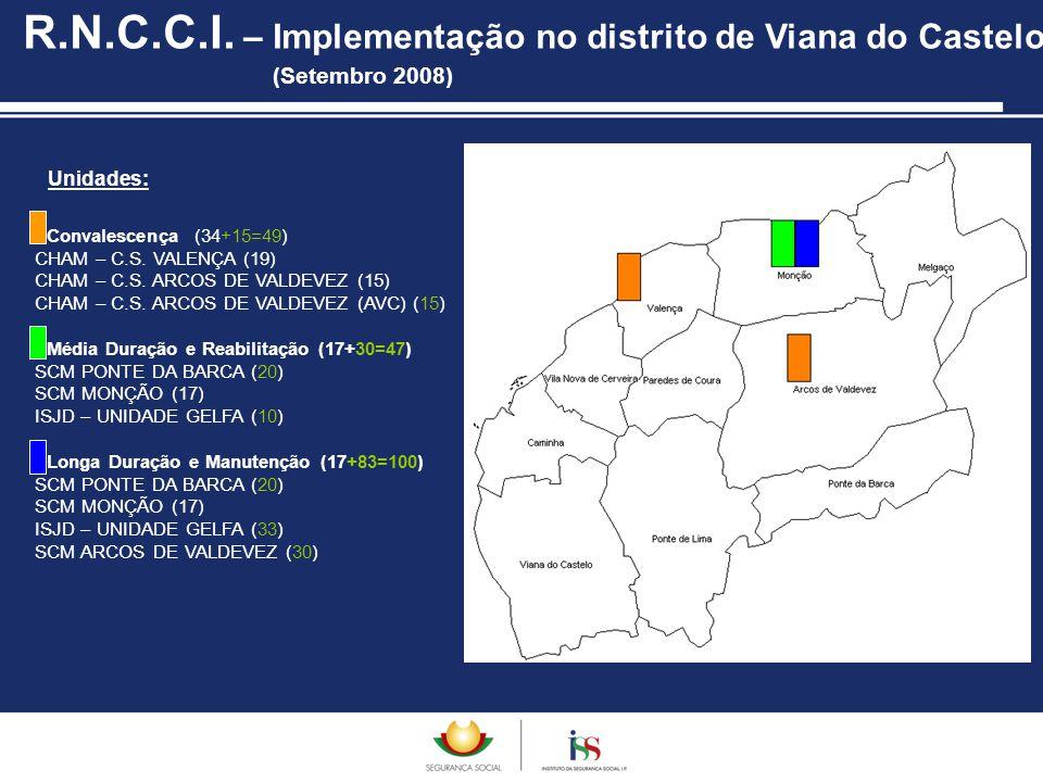 R.N.C.C.I. – Implementação no distrito de Viana do Castelo (Setembro 2008)