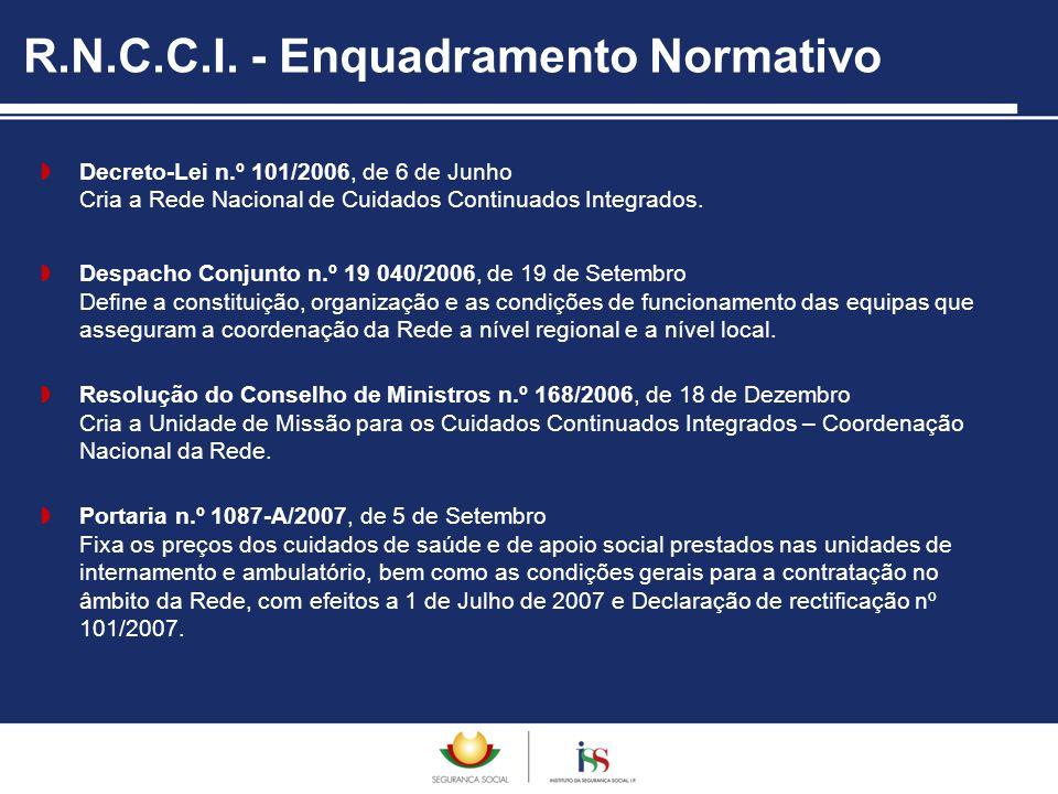 R.N.C.C.I. - Enquadramento Normativo