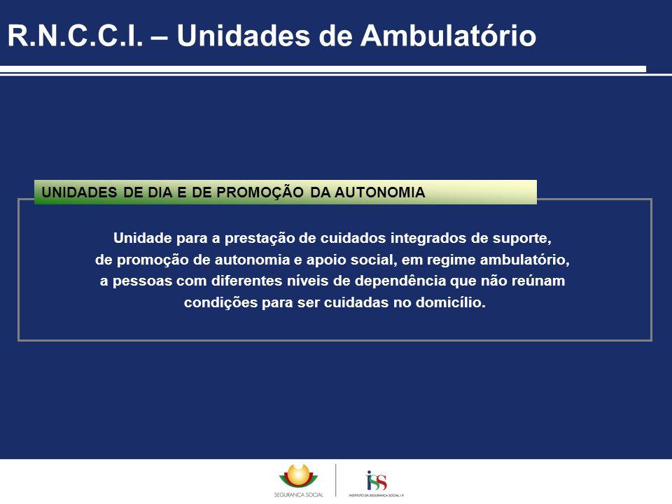R.N.C.C.I. – Unidades de Ambulatório