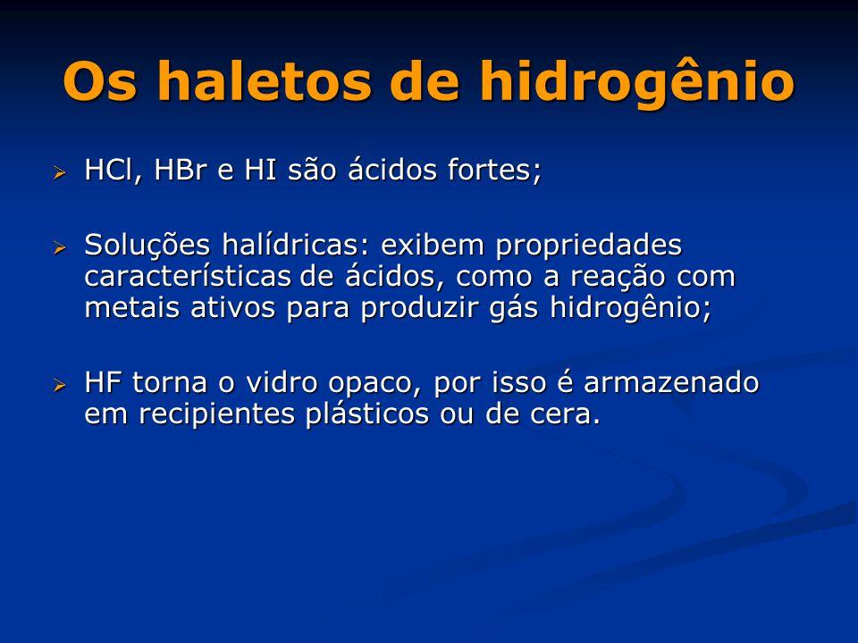 Os haletos de hidrogênio
