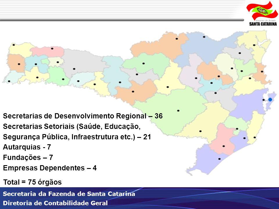 Secretarias de Desenvolvimento Regional – 36