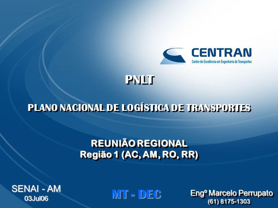 PLANO NACIONAL DE LOGÍSTICA DE TRANSPORTES