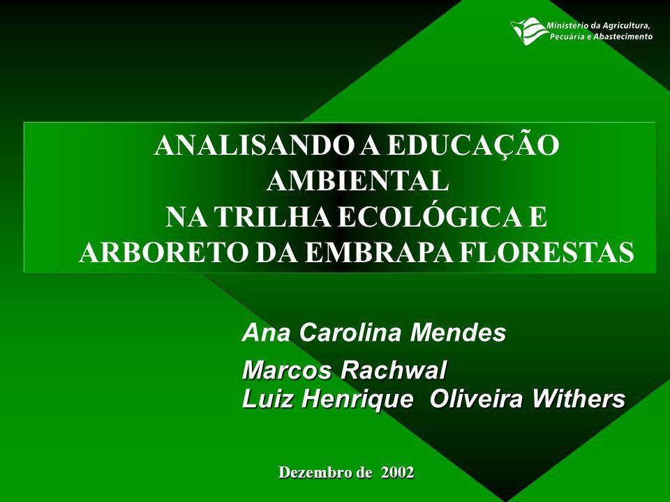 ANALISANDO A EDUCAÇÃO AMBIENTAL ARBORETO DA EMBRAPA FLORESTAS