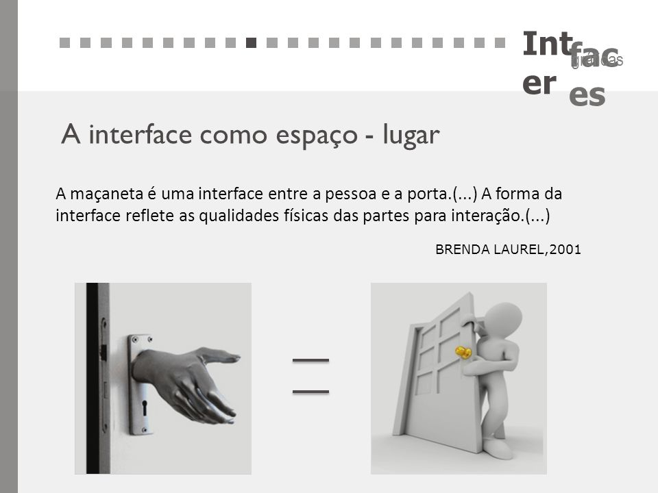 Inter A interface como espaço - lugar