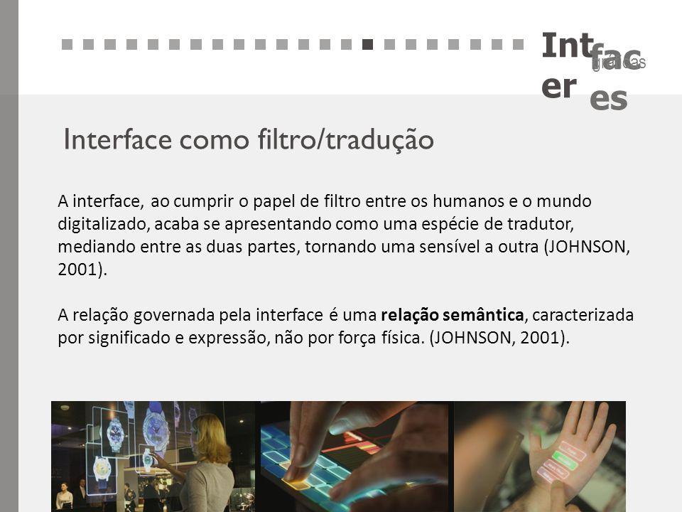 Inter Interface como filtro/tradução