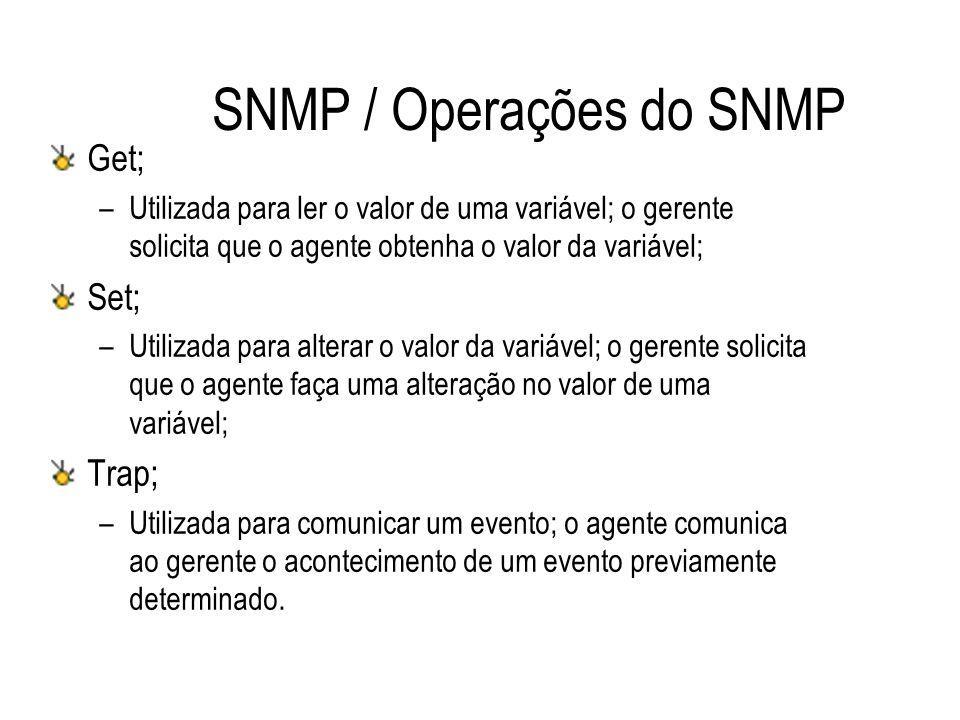 SNMP / Operações do SNMP