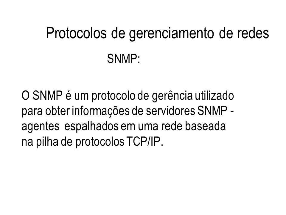 Protocolos de gerenciamento de redes