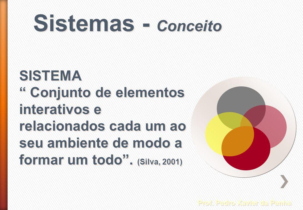 Sistemas - Conceito Prof. Pedro Xavier da Penha SISTEMA