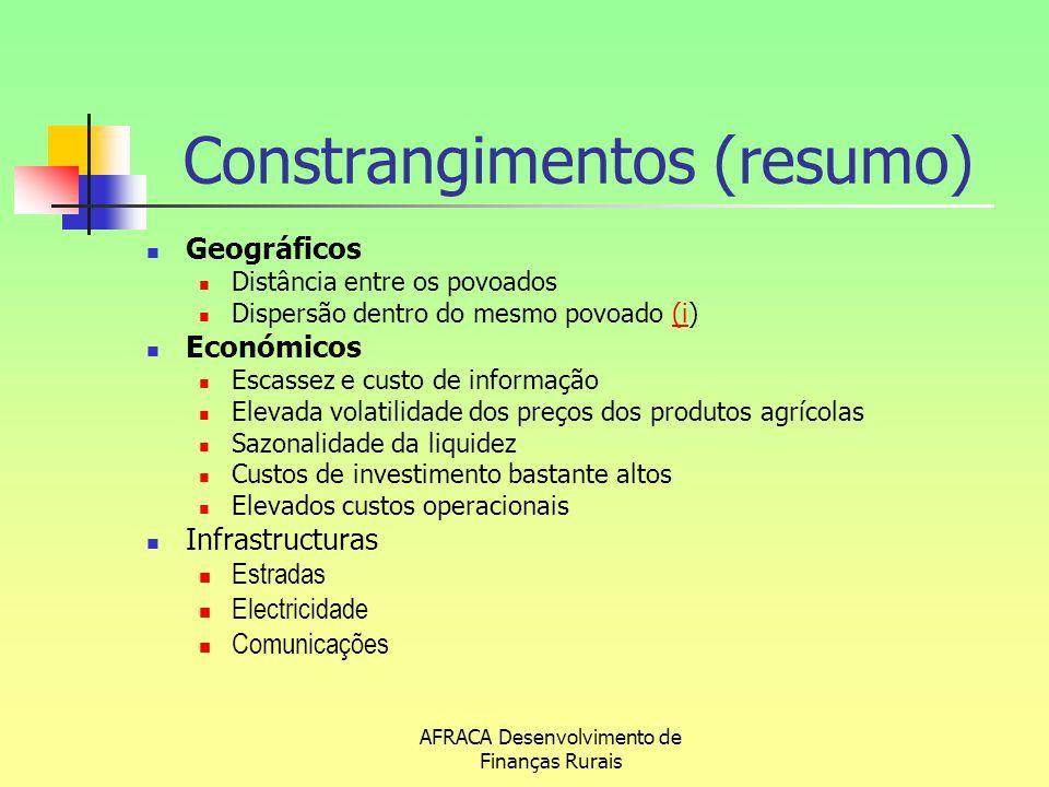 Constrangimentos (resumo)