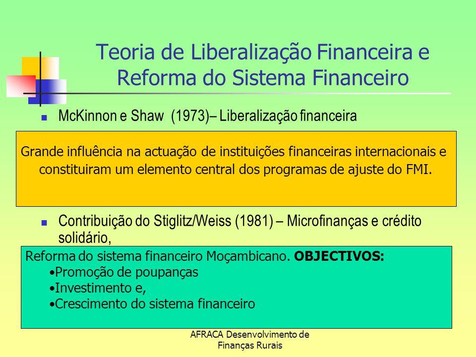 Teoria de Liberalização Financeira e Reforma do Sistema Financeiro