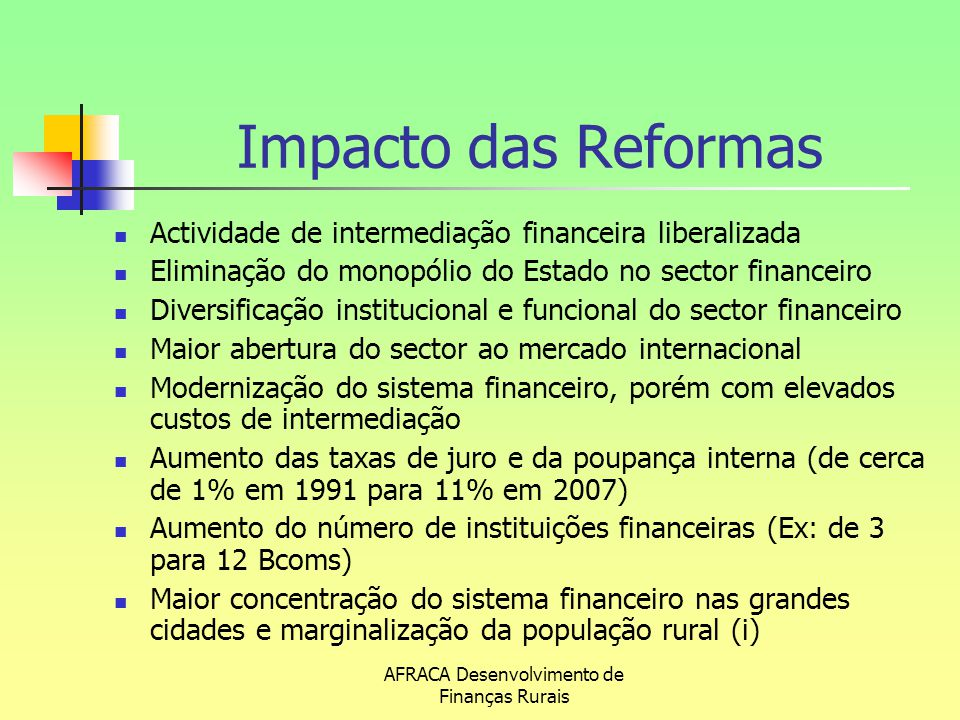 AFRACA Desenvolvimento de Finanças Rurais
