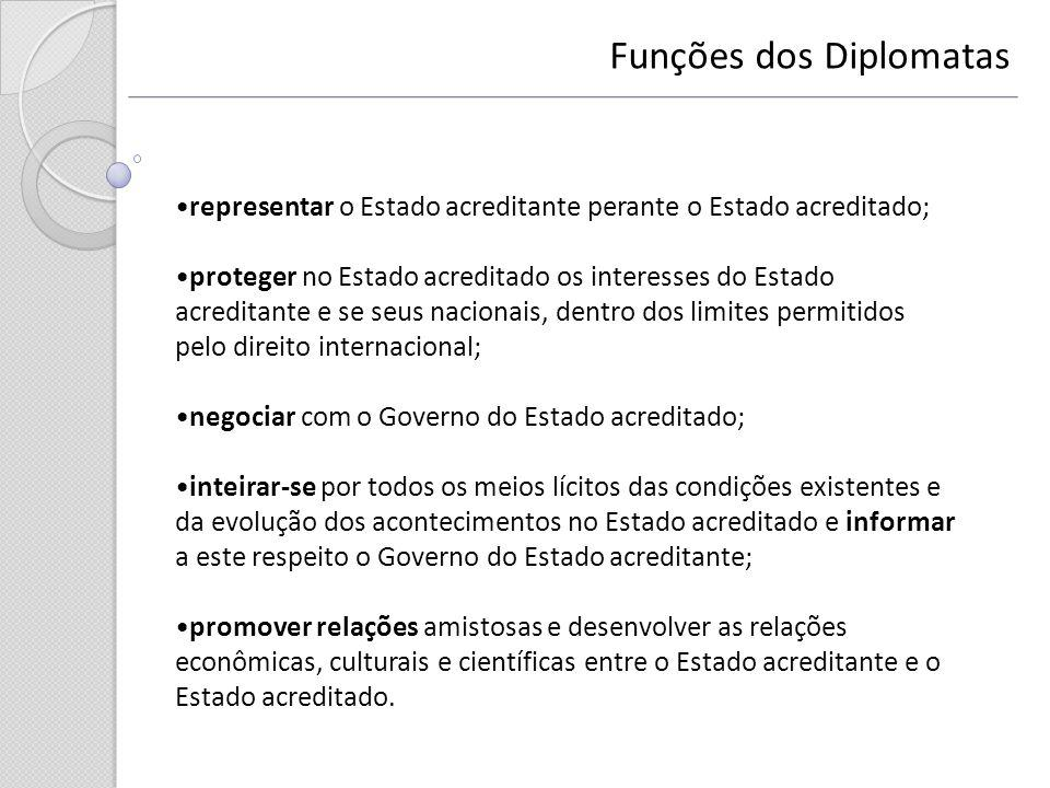 Funções dos Diplomatas