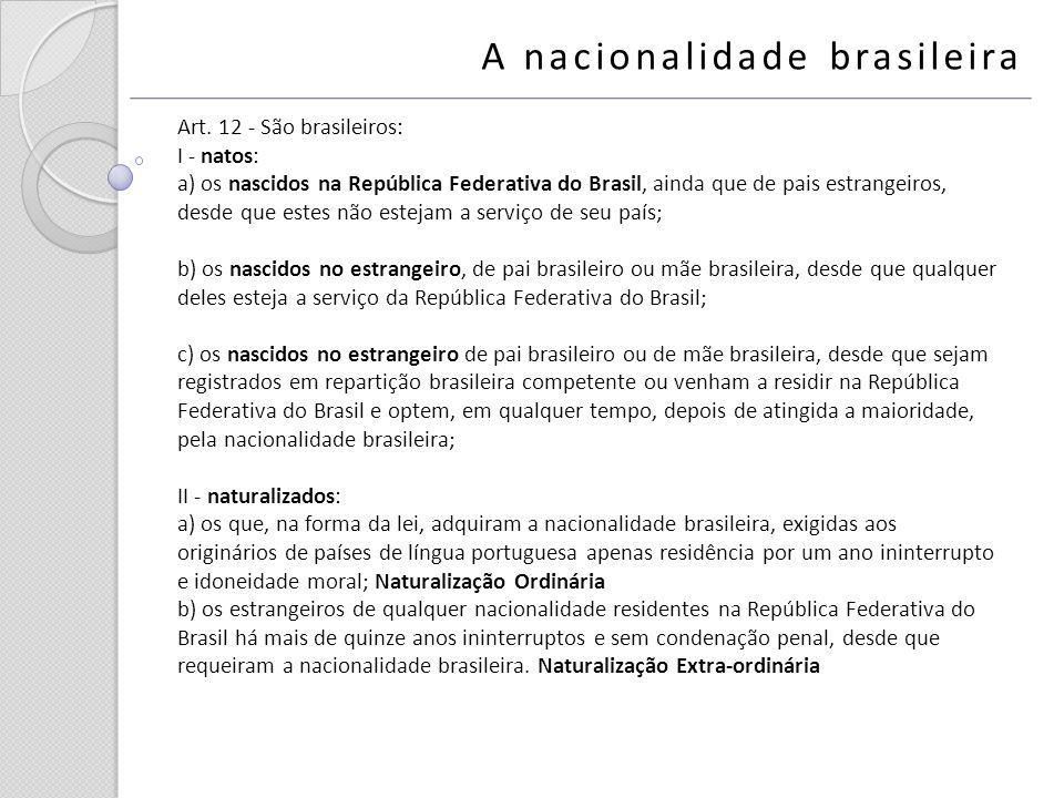 A nacionalidade brasileira