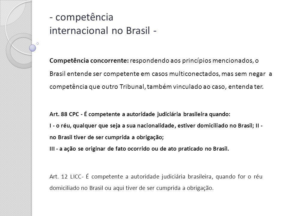 - competência internacional no Brasil -