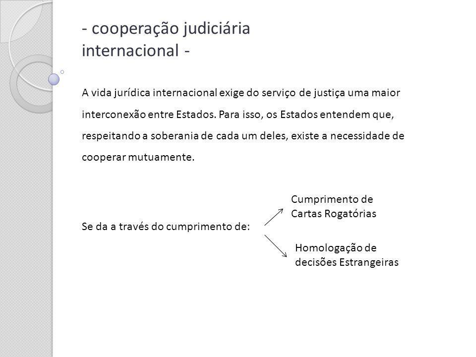 - cooperação judiciária internacional -