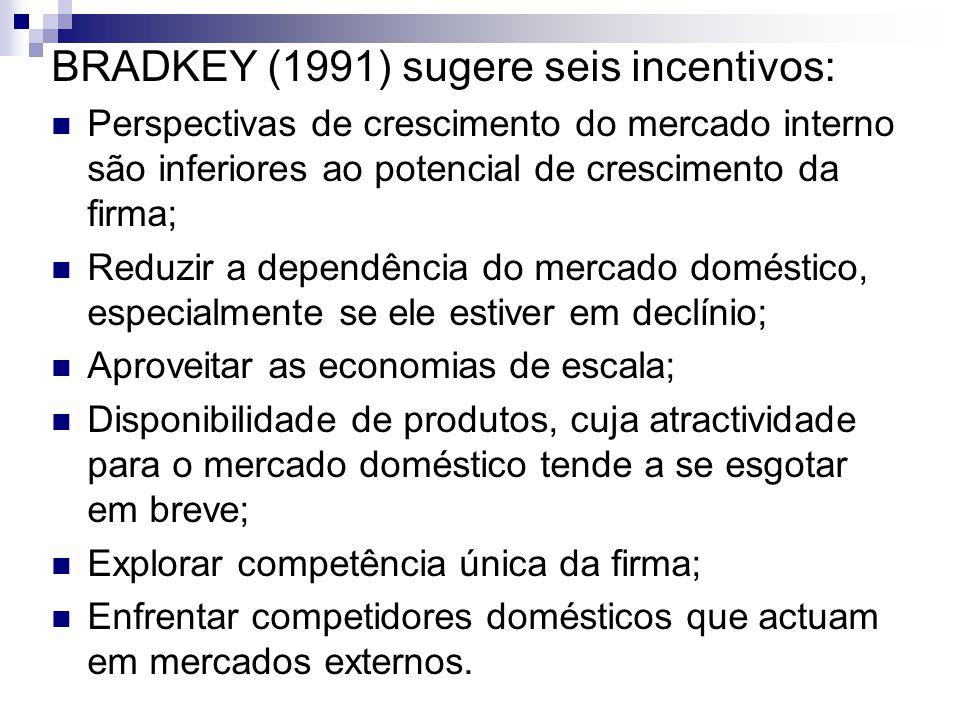 BRADKEY (1991) sugere seis incentivos: