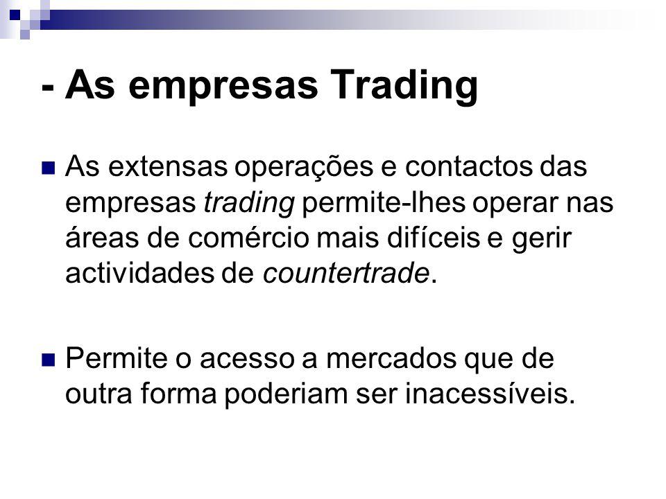 - As empresas Trading