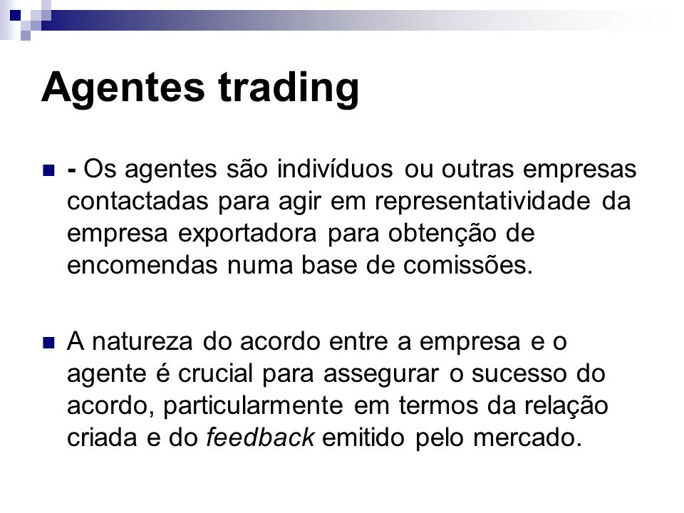Agentes trading