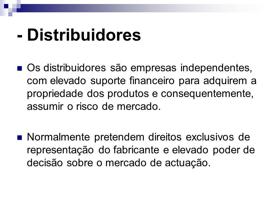 - Distribuidores