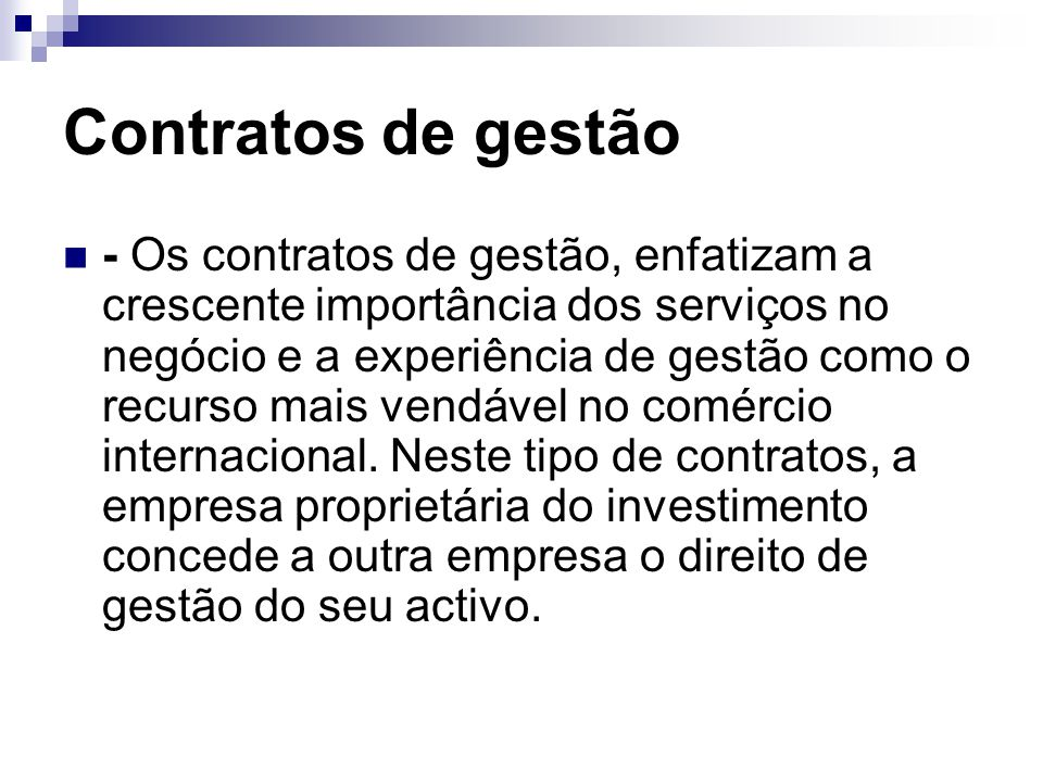 Contratos de gestão
