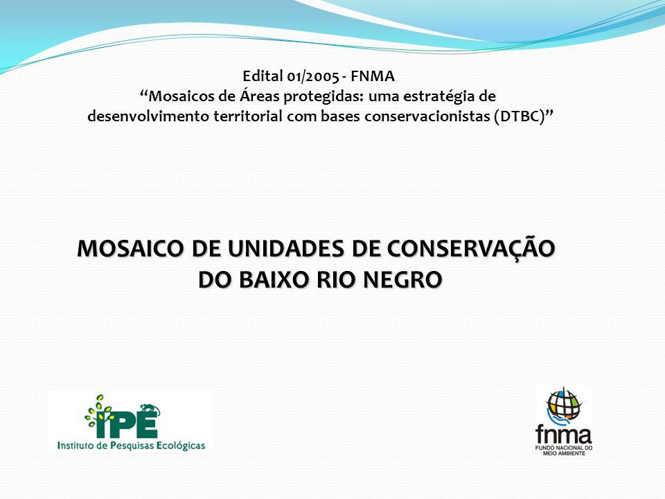 MOSAICO DE UNIDADES DE CONSERVAÇÃO DO BAIXO RIO NEGRO