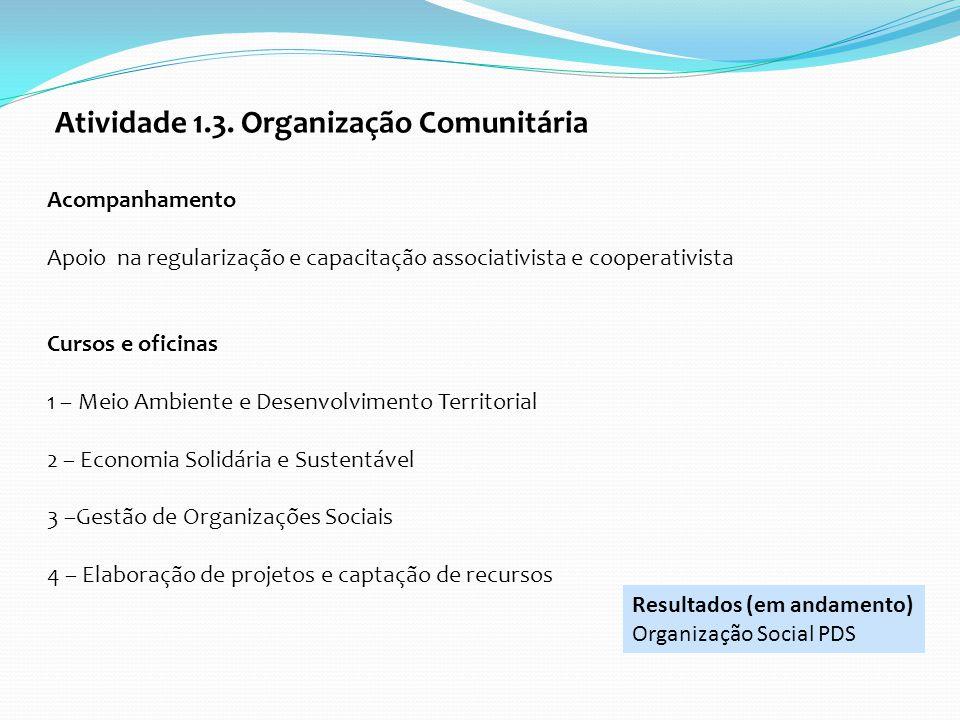 Atividade 1.3. Organização Comunitária