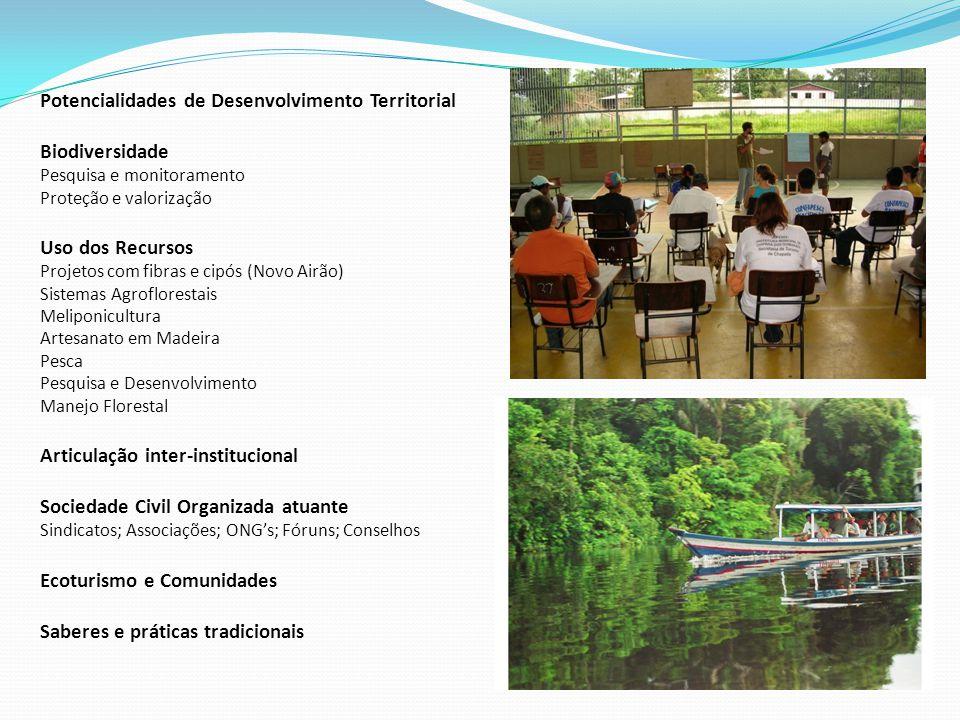 Potencialidades de Desenvolvimento Territorial Biodiversidade