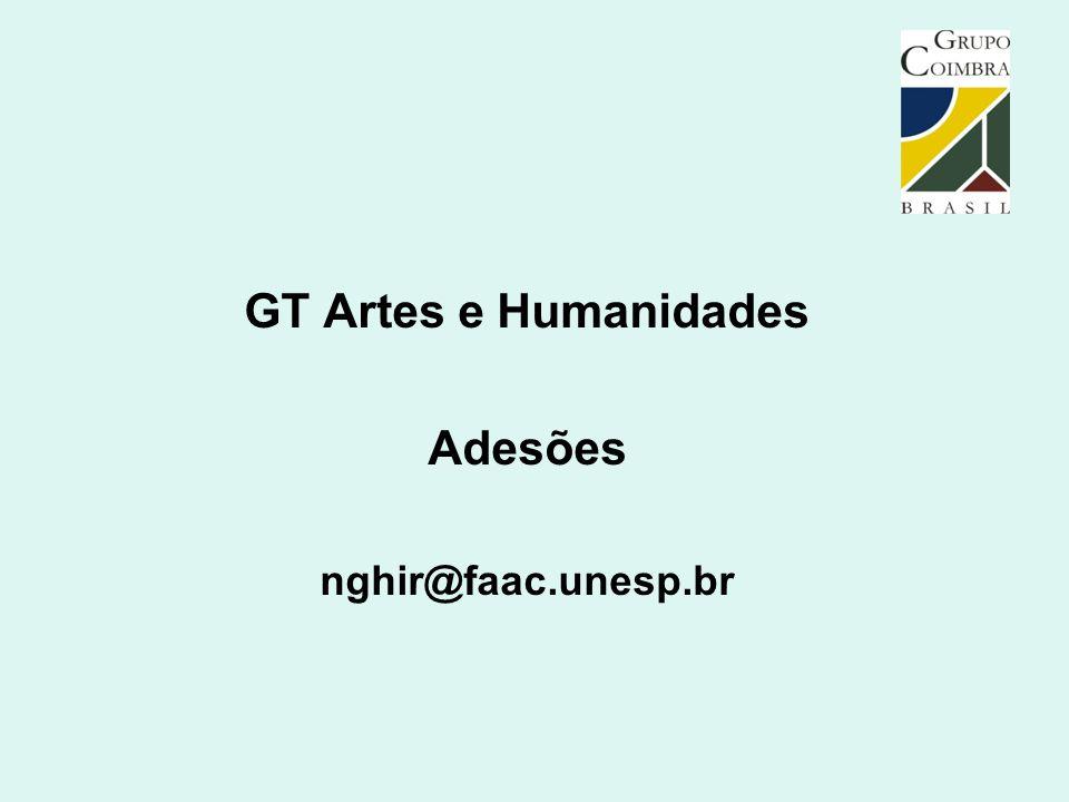 GT Artes e Humanidades Adesões