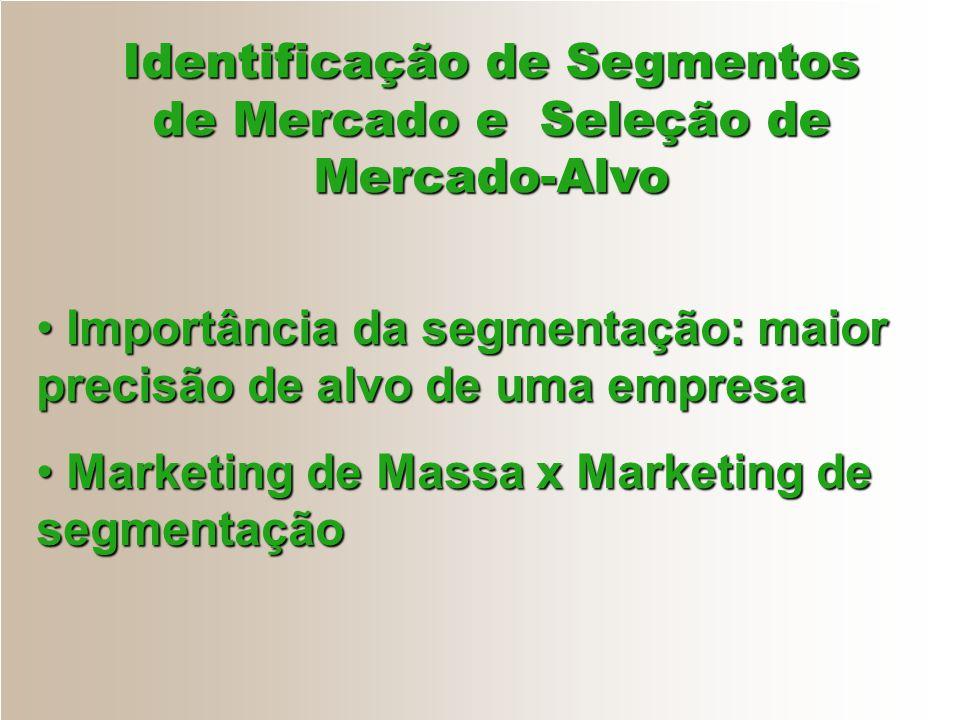Identificação de Segmentos de Mercado e Seleção de Mercado-Alvo