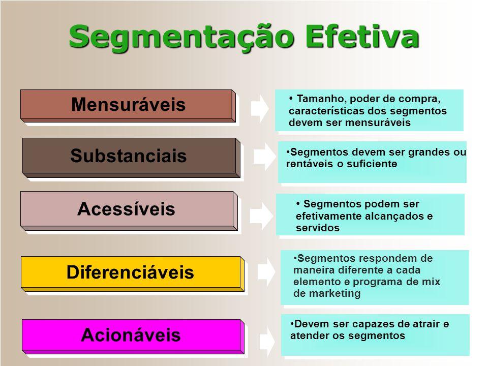 Segmentação Efetiva Mensuráveis Substanciais Acessíveis Diferenciáveis