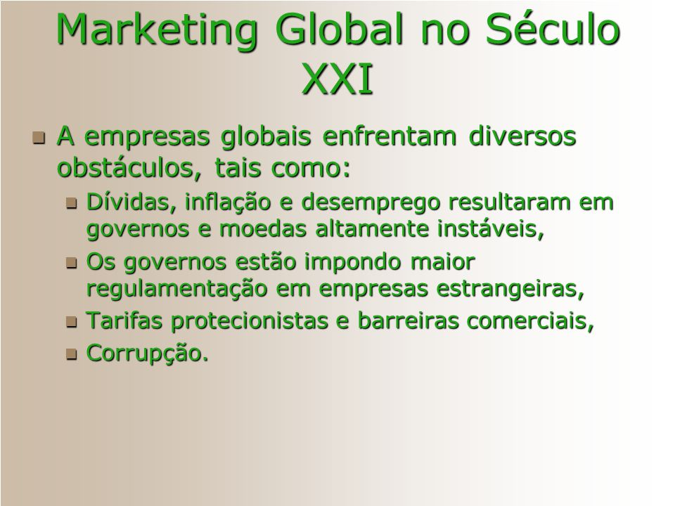 Marketing Global no Século XXI