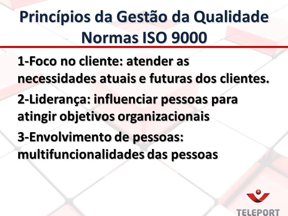 Princípios da Gestão da Qualidade Normas ISO 9000