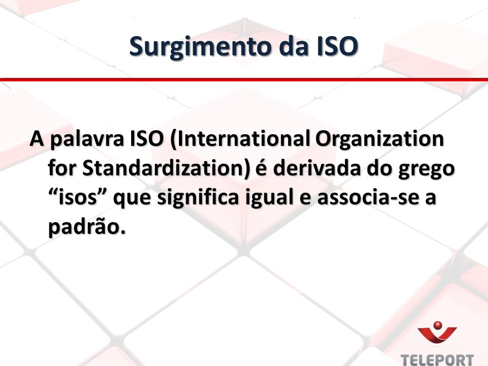 Surgimento da ISO