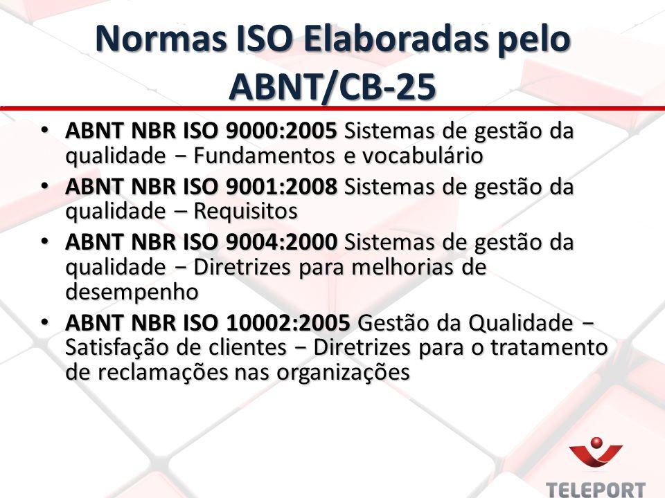 Normas ISO Elaboradas pelo ABNT/CB-25