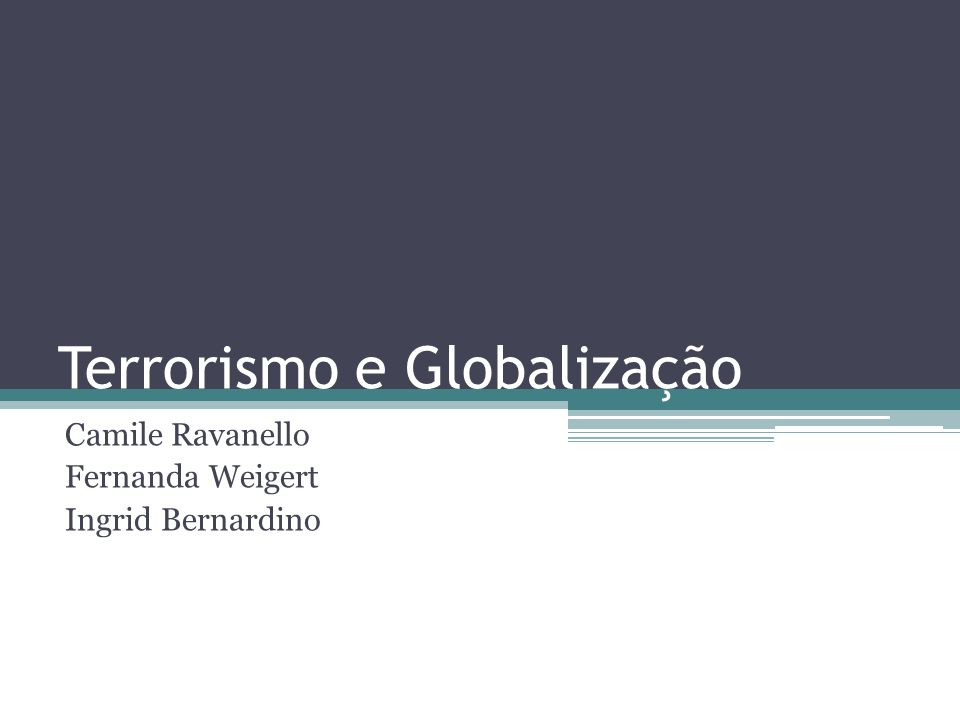 Terrorismo e Globalização